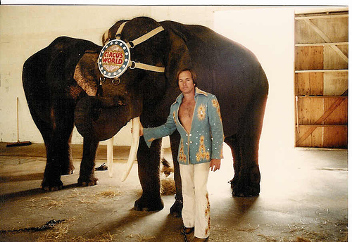 Roman Schmitt and the elephant bull Toomai
