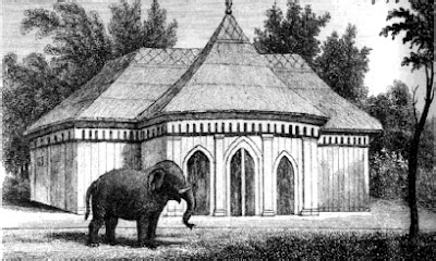 Decimus Burtons Elephant Stables, London Zoo, Natural History and Views of London, 1835